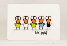 Annikarten: Bird Brain The Alley Way Stamps: Bird Brain