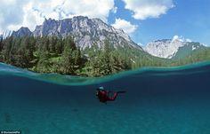 Green Lake in the Hochschwab Mountains, Austria
