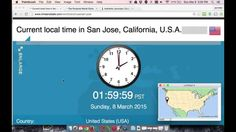 1 Minute Countdown - Beginning of Daylight Savings Time in California an...