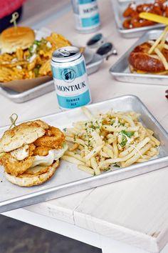 Fried Chicken Biscuit Bun Sandwich @ Clinton Hall NYC Seaport District // Bars // Restaurants
