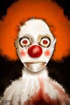 """The Broken Clown""- Giulio Rossi - digital painting"