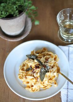 Browned Butter and Butternut Squash Pasta