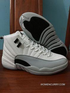 b07f1041f35 Air Jordan 12 White Grey-Black  White New Style
