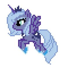 MLP Princess Luna Cross Stitch Pattern. $4.00, via Etsy.