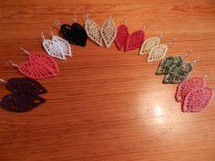 crochet earrings patterns free | Crochet Lace Leaf Earrings | HOOK CROCHET
