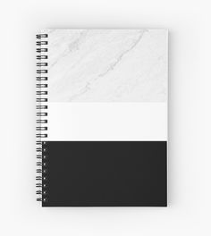Buy Any 2 & Get 15% --- Marble BLack White Notebook by ARTbyJWP from Redbubble #notebook #journal #stationery #blackandwhite #marble #redbubble #artbyjwp    Minimal photo collage of marble texture and bold black and white colors in stripes. • Also buy this artwork on stationery, apparel, stickers, and more.