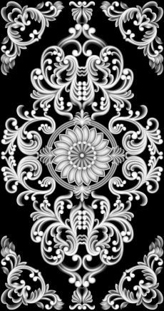 Wall Stencil Patterns, Wood Carving Patterns, Carving Designs, Stencil Designs, Islamic Art Pattern, Pattern Art, Pattern Design, Zbrush, Motif Baroque