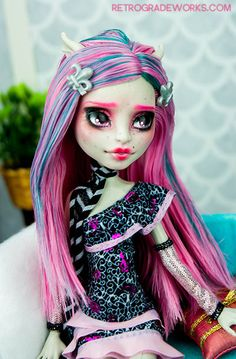 Custom Monster High Rochelle Goyle Repaint by Retrograde Works