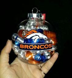 Broncos ornament #GlitterOrnaments