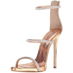 Giuseppe Zanotti Women's E70119 Dress Sandal ($950) ❤ liked on Polyvore featuring shoes, sandals, giuseppe zanotti, strappy heeled sandals, dress sandals, rhinestone sandals and giuseppe zanotti shoes