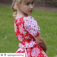 Pattern Emporium Little Miss Daydream Dress PDF Pattern - puffed sleeve option.