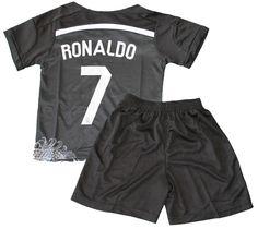2014/2015 REAL MADRID BLACK DRAGON CRISTIANO RONALDO 7 FOOTBALL SOCCER KIDS JERSEY & SHORT (10-11 YEARS)