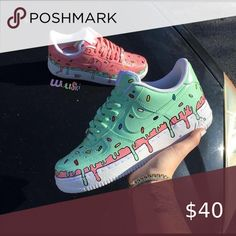 What flavor ice cream is your favorite? Comment be… – – Monika - Shoes Sneakers Custom Painted Shoes, Painted Vans, Hand Painted Shoes, Nike Shoes Air Force, Aesthetic Shoes, Pink Aesthetic, Hype Shoes, Fresh Shoes, Custom Sneakers