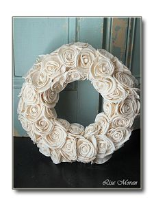Shabby chic wreath perfection! -Lisa Moran's Blog Bilancia Designs!
