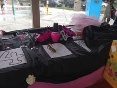Barbie party activity table