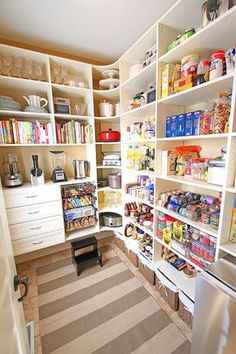A well designed pantry has a home for everything including small snacks, dishware, and appliances. Get the tutorial at Kevin and Amanda.
