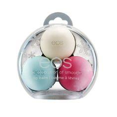 10 Under $10: Holiday Beauty Gift Guide | Beauty High EOS holiday lip balm 3 piece set,$8,ulta.com