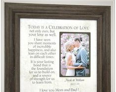 Parents Wedding Gift for Parents of the Bride and Groom # thank you Parenting Celebrating the Special Moments in Your LIfe by PhotoFrameOriginals Thank You Gift For Parents, Wedding Gifts For Parents, Wedding Thank You Gifts, Bride Gifts, Mother Of The Groom Gifts, Mother And Father, Father Of The Bride, Mother Gifts, Rustic Wedding Photos