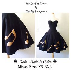 The BeBop ROCKABILLY Strapless Dress Pinup by MoonbootStudios