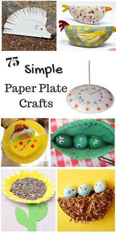 Fun paper plate craft ideas for kids. Love all the unique kids crafts