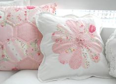 Love both hexies and dresden plate cushions