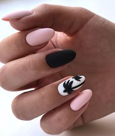 Nail Design for Summer 2019 - New Ideas for Summer Manicure, The Latest Trends i. Nail Design for Summer 2019 - New Ideas for Summer Manicure, The Latest Trends in Summer Nail Art in The Photo Summer Acrylic Nails, Best Acrylic Nails, Summer Nails, Acrylic Nail Designs For Summer, Short Nail Designs, Nail Art Designs, Nail Manicure, Gel Nails, Matte Nails