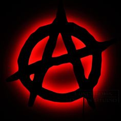 """Anarchy - Lighted Wall Art and Symbolic Night Light - 15""""W x 14.75""""H"""