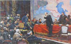 В.И.ЛЕНИН у карты ГОЭЛРО,портрет ленина,вождь революции,купить портрет ленина,продажа советской живописи