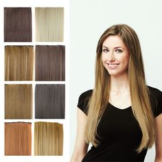24inch straight Hair Extention 3/4 Full Head Clip in Hair Extensions best natural looking Hairpiece cheap sexy