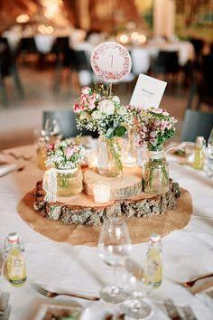 Hochzeitsdeko - 10er Set Tischnummer Florale Stecker Hochzeit - ein Designerstück von Sarahnadja bei DaWanda