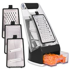 Professional Cheese Box Grater shredder with Catch Food C. Cool Kitchen Gadgets, Cool Kitchens, Kitchen Essentials List, Food C, New Things To Try, Cheese Grater, Latin Food, Kitchen Accessories, Thing 1