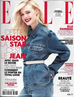 ELLE n°3746 06/10/2017 Elle Fanning/ Jean superstar/ Goscinny/ M.Foïs/ Biolay/ Défilés/ Gauguin/ Déco automne