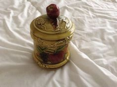Geo.Z.lefton #3743 vintage 1968 apple and pear pattern sugar container with lid