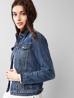 Gap is a great place to look for denim essentials, like a denim jacket!