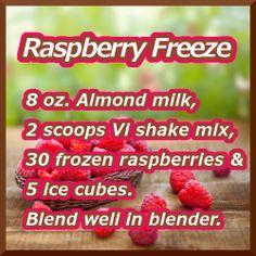 Raspberry Freeze ViSalus Recipe www.facebook.com/...