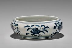 Blue and white porcelain brush washer, Yongle Period