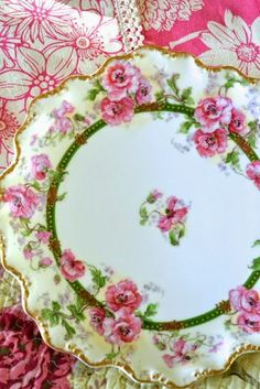 Cottage Charm ~ Pink, Green ~