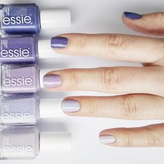 When you can't just pick one pretty purple polish from essie -- create an ombre mani!