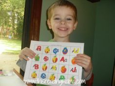 Reading the Alphabet~ Letter A/ Sight Word AT {Lesson 6}   This Reading Mama