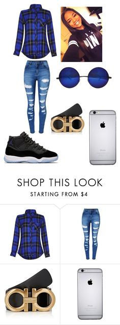 """Untitled #186"" by halo124 on Polyvore featuring Rails, WithChic and Salvatore Ferragamo"