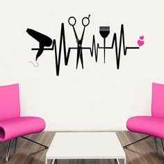 Ideas Hair Color Red Burgundy Wall Stickers For 2019 Beauty Salon Decor, Beauty Salon Interior, Beauty Salons, Beauty Salon Design, Hairstylist Tattoos, Hairdresser Tattoos, Cosmetology Tattoos, Wall Stickers, Vinyl Decals