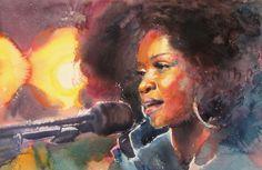 singers by Kalina Toneva, via Behance