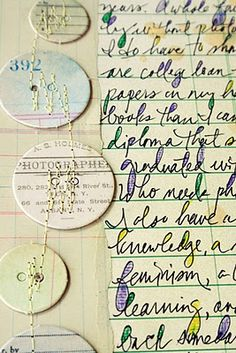 Scrap Paper - Jill Sprout - Stitched paper circles