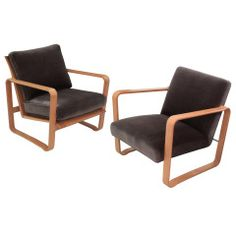 """Pair of Rare """"Modern Morris Chairs"""" by Edward Wormley"""