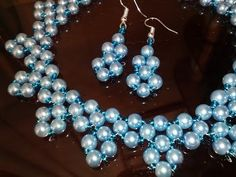 How to make pearl beaded necklace. Diy Necklace making tutorial. 3 beaded necklace patterns - YouTube