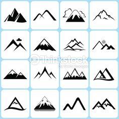 Vector Art : mountain icons set