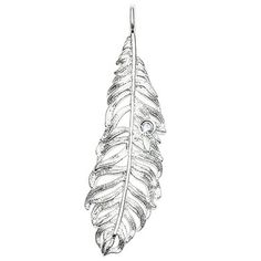 Float like a feather with this large feather pendant from Thomas Sabo