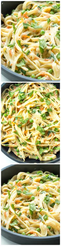 A creamy, veggie loaded one pot pasta that comes together easily in only one pot with only 7 ingredients!