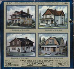 This Was Manitoba: Eaton's Catalogue Houses, 1913 Eaton House, Tiny House Village, Canadian Prairies, Vintage House Plans, Vintage Homes, Canadian Things, Prefabricated Houses, Canadian History, Vintage Soul