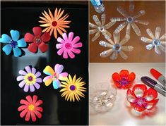 Recycling basteln kinder-pet-flaschen-blumen-formen Recycling basteln kinder-pet-flaschen-blumen-formen The post Recycling basteln kinder-pet-flaschen-blumen-formen appeared first on Basteln ideen. Upcycled Crafts, Easy Diy Crafts, Cute Crafts, School Art Projects, Crafty Projects, Diy Pet, Art For Kids, Crafts For Kids, Cardboard Recycling